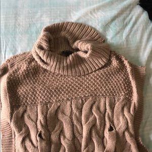 Beige poncho sweater
